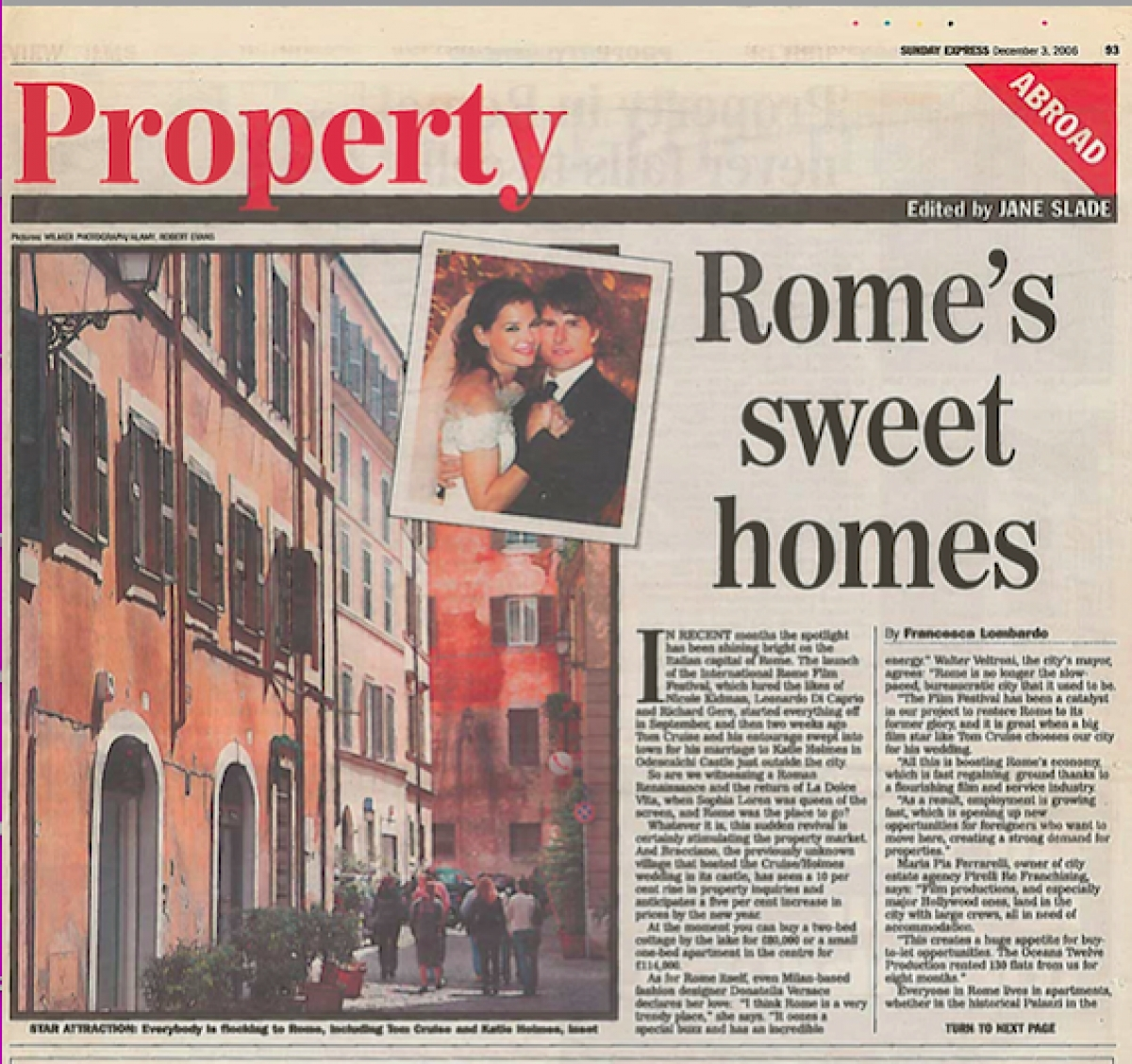 Sunday Express, Property, Francesca Lombardo